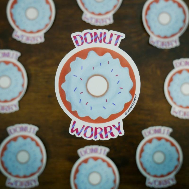 Bit Element - Donut Worry sticker