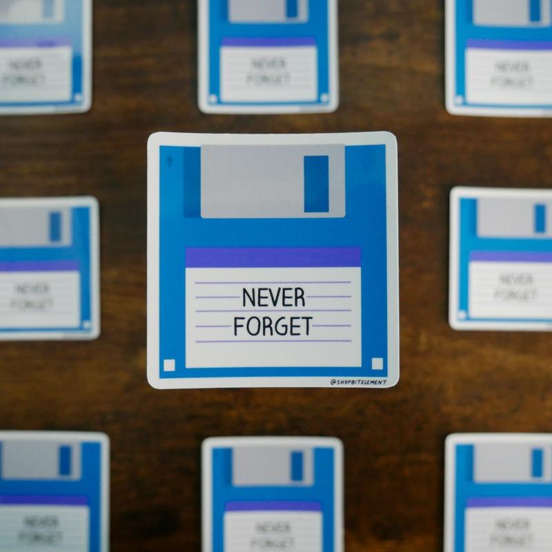 Bit Element - Never Forget sticker